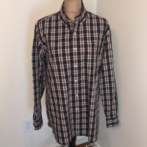 Lucky Brand men's button up plaid. Size M